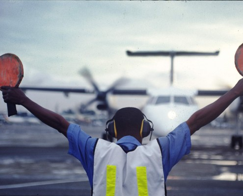 Reportage fotografie Vliegveld Nigeria